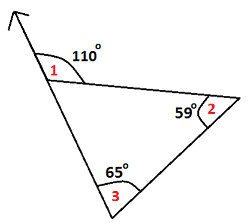 Exterior Angle Property Of A Triangle At Algebra Den