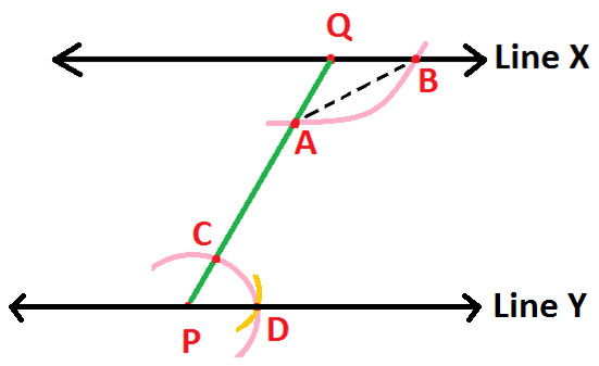 Drawing Parallel Lines With Compass : Construction of parallel line at algebra den