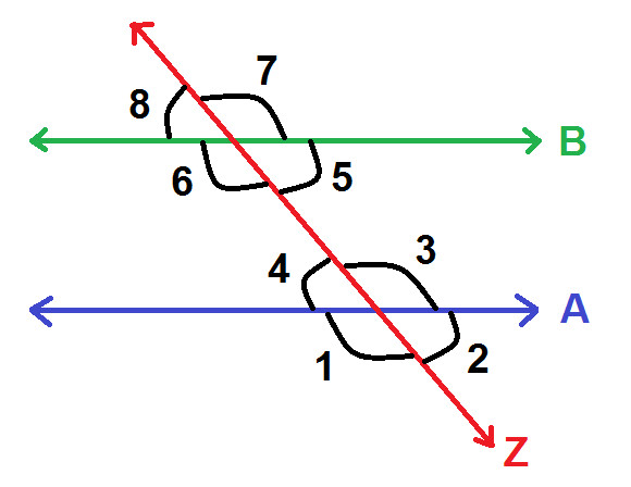 pairs of angles on parallel lines