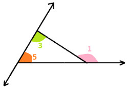 Interior opposite angles of triangle at algebra den - Which of the following are exterior angles ...